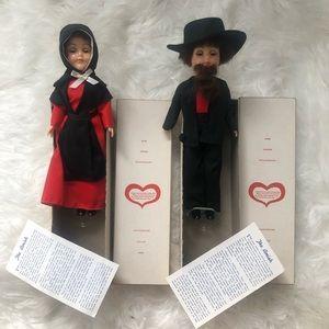Vintage Lancaster Amish Man - Woman Doll